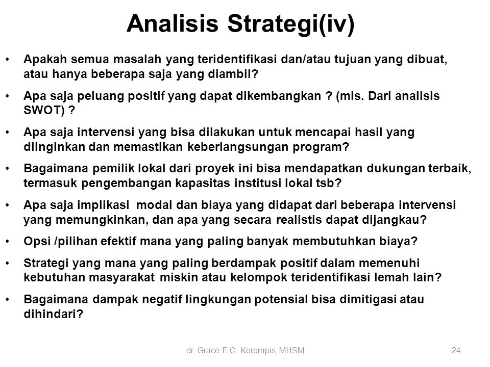 Analisis Strategi(iv)