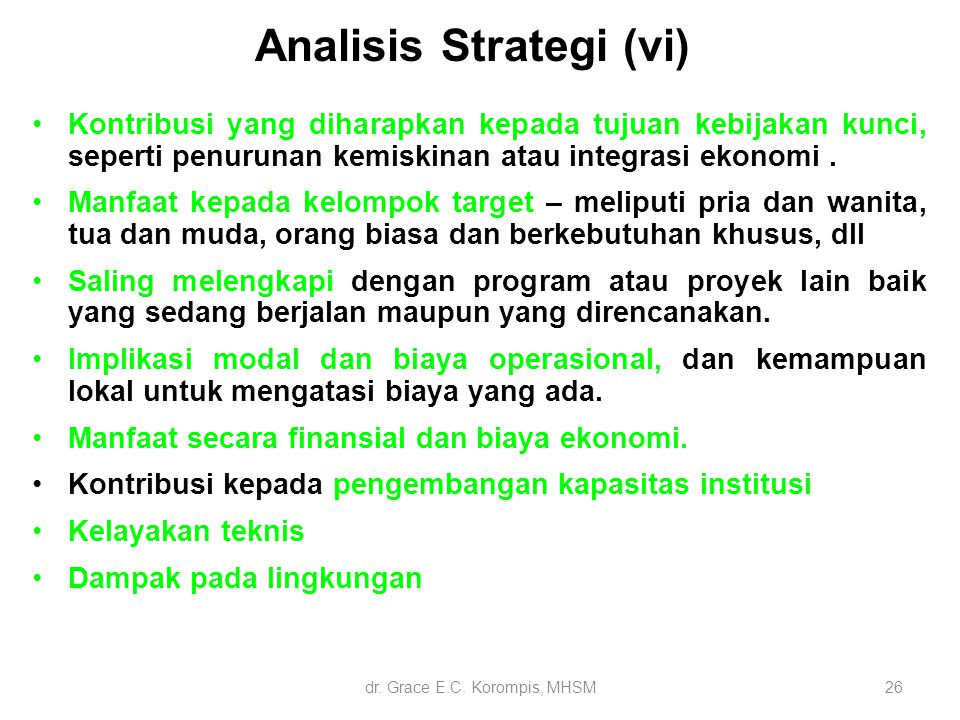 Analisis Strategi (vi)
