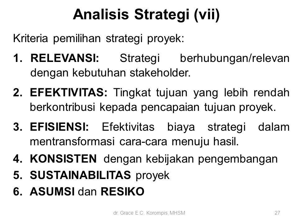Analisis Strategi (vii)