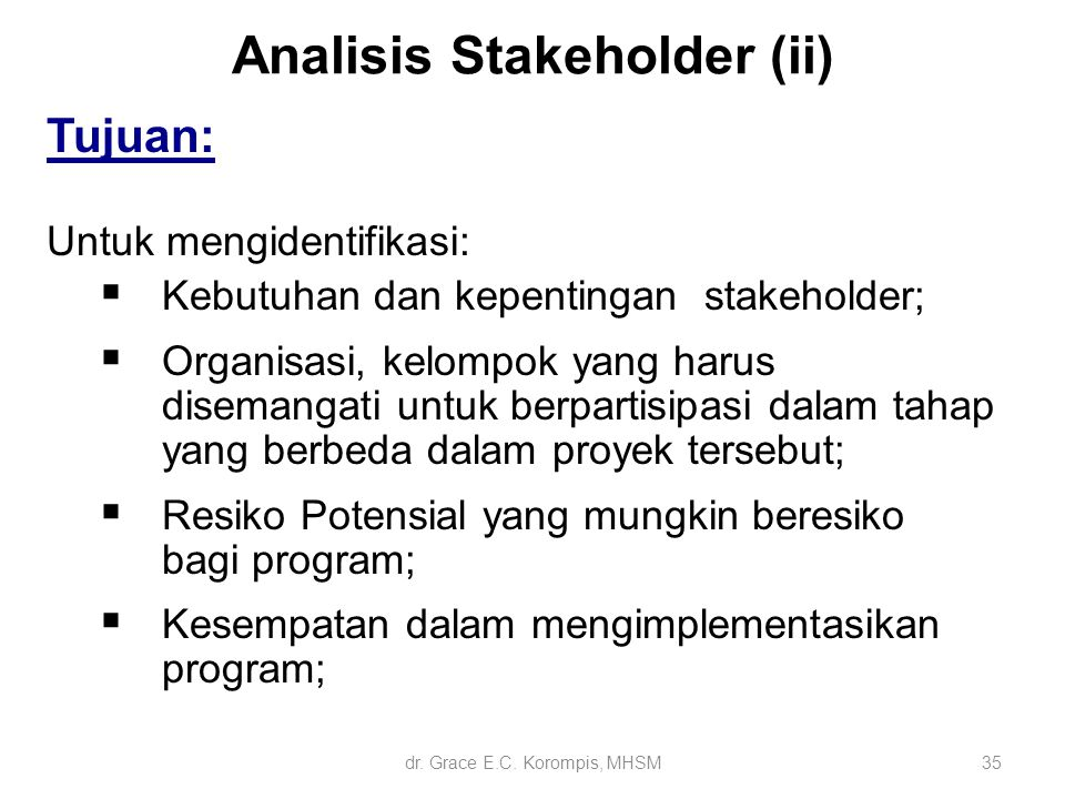 Analisis Stakeholder (ii)