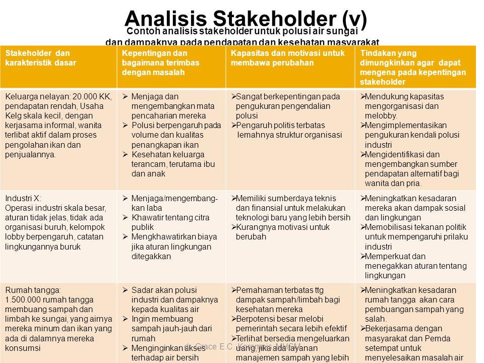 Analisis Stakeholder (v)