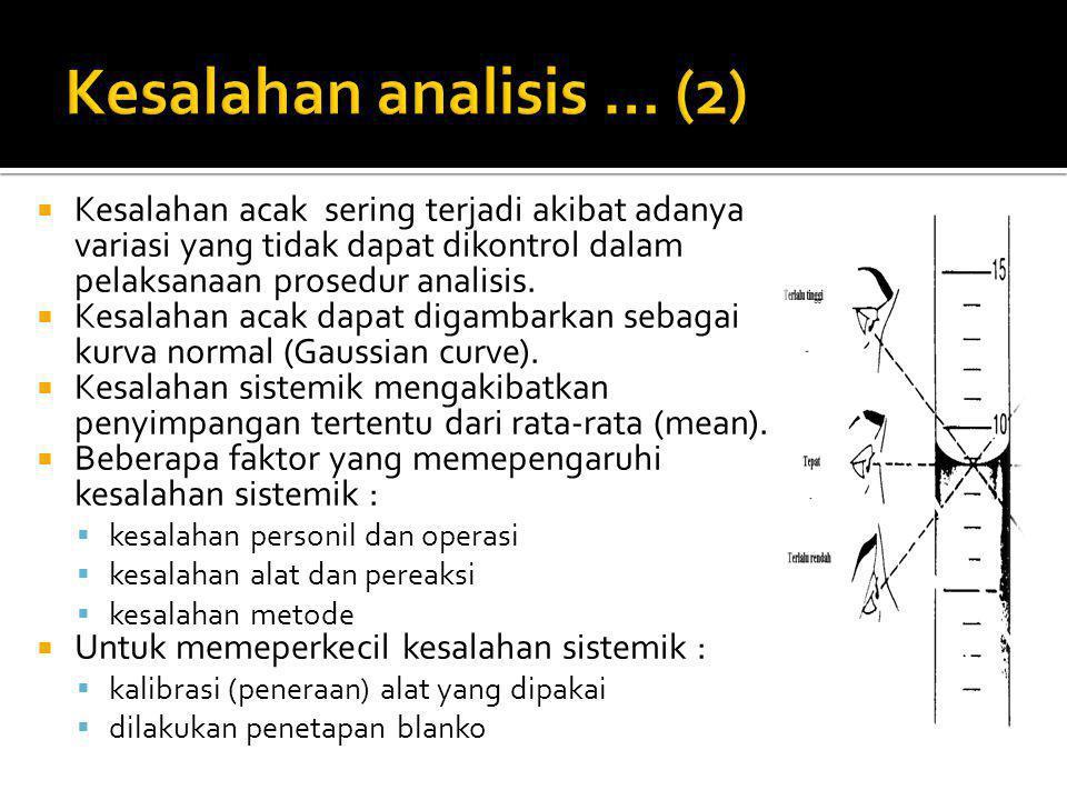 Kesalahan analisis … (2)