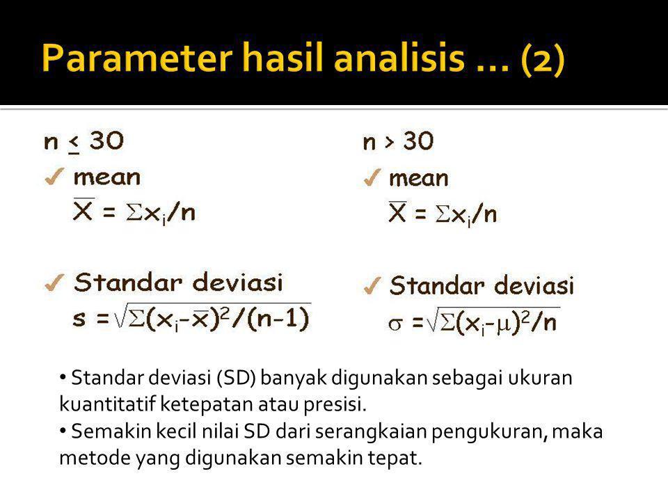 Parameter hasil analisis … (2)