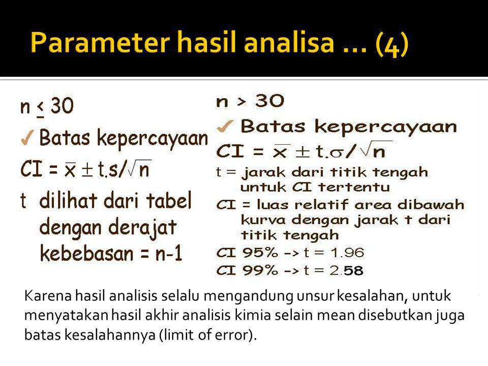 Parameter hasil analisa … (4)
