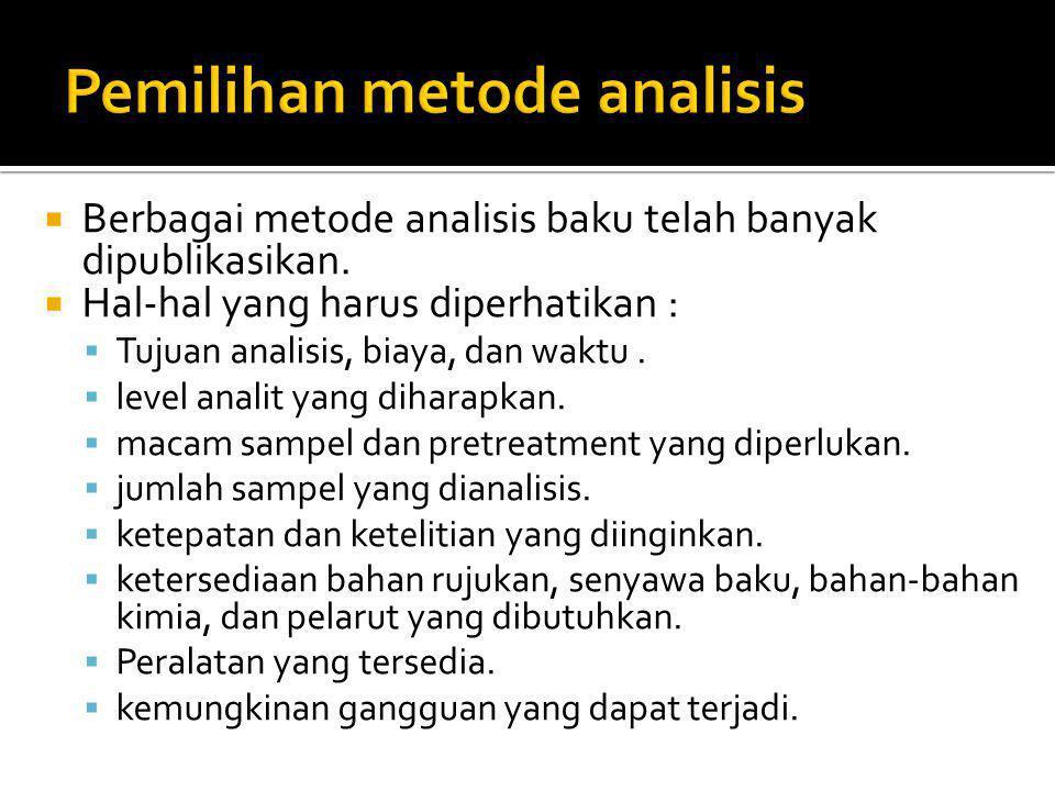 Pemilihan metode analisis