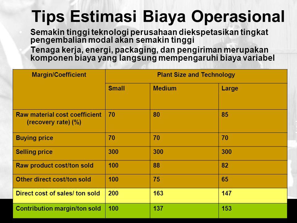 Tips Estimasi Biaya Operasional