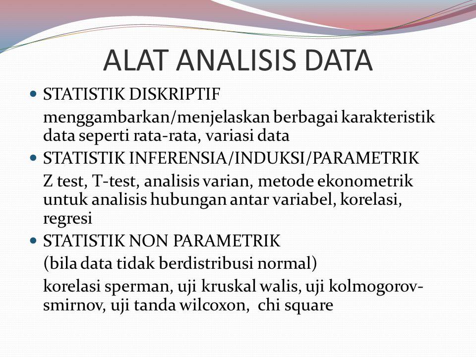ALAT ANALISIS DATA STATISTIK DISKRIPTIF