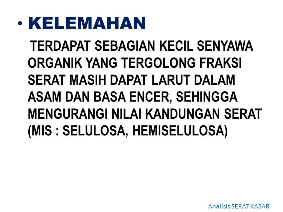 KELEMAHAN