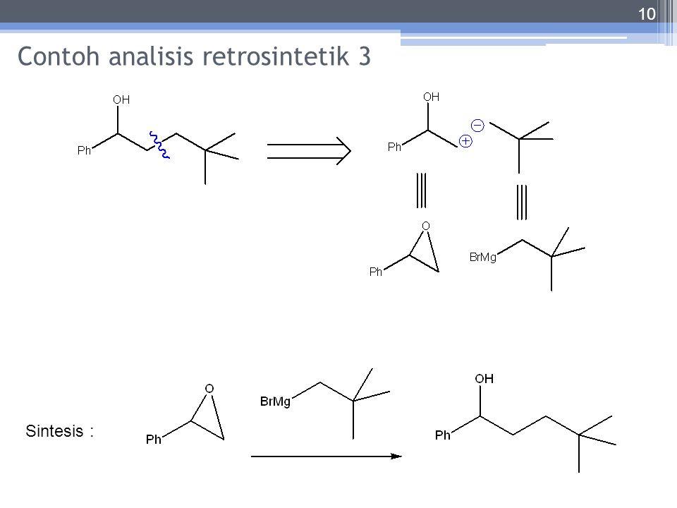 Contoh analisis retrosintetik 3