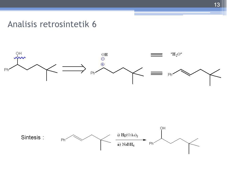 Analisis retrosintetik 6