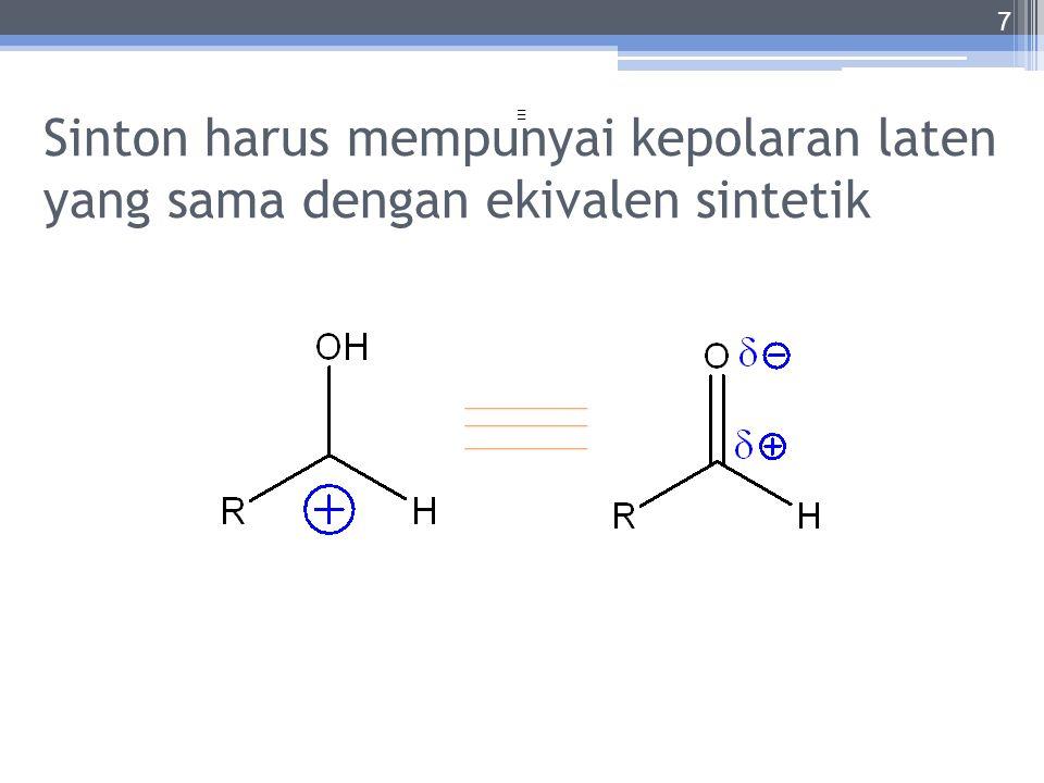 Sinton harus mempunyai kepolaran laten yang sama dengan ekivalen sintetik
