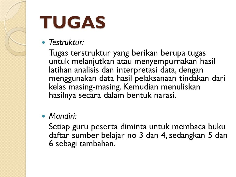 TUGAS Testruktur: