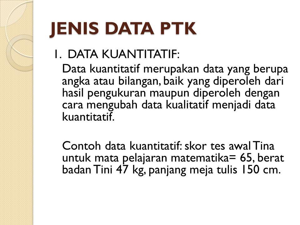 JENIS DATA PTK