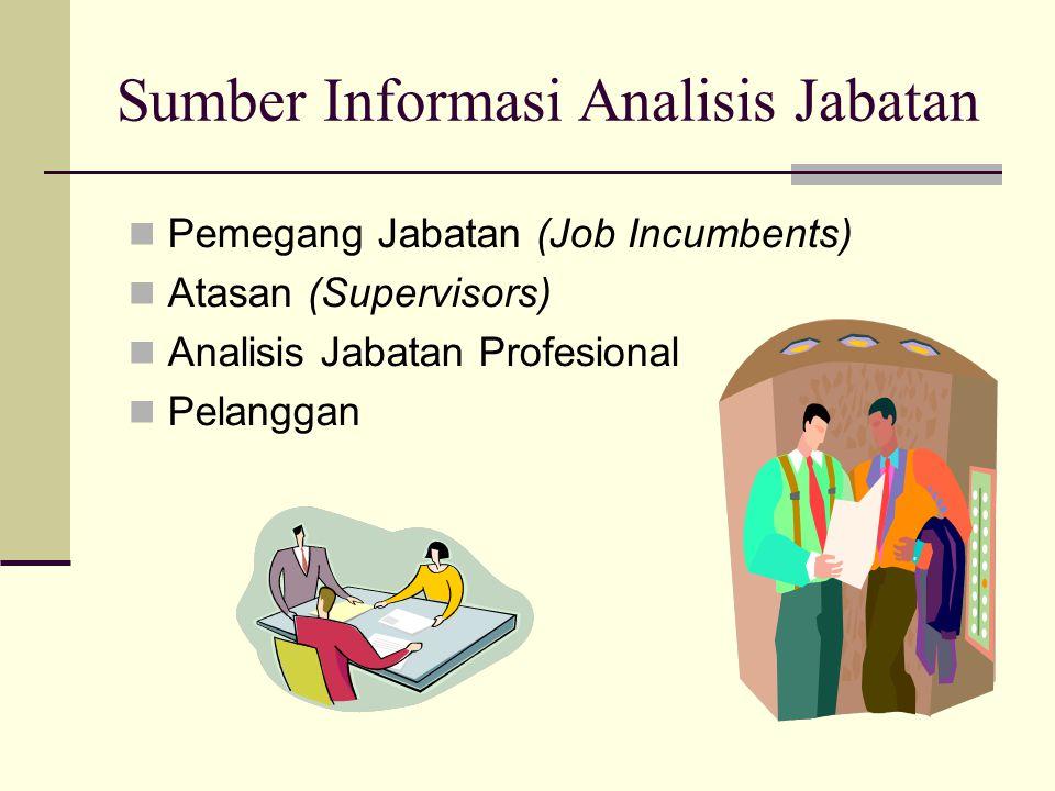Sumber Informasi Analisis Jabatan