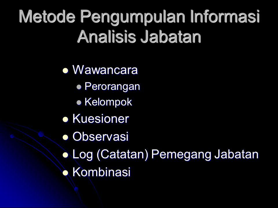 Metode Pengumpulan Informasi Analisis Jabatan