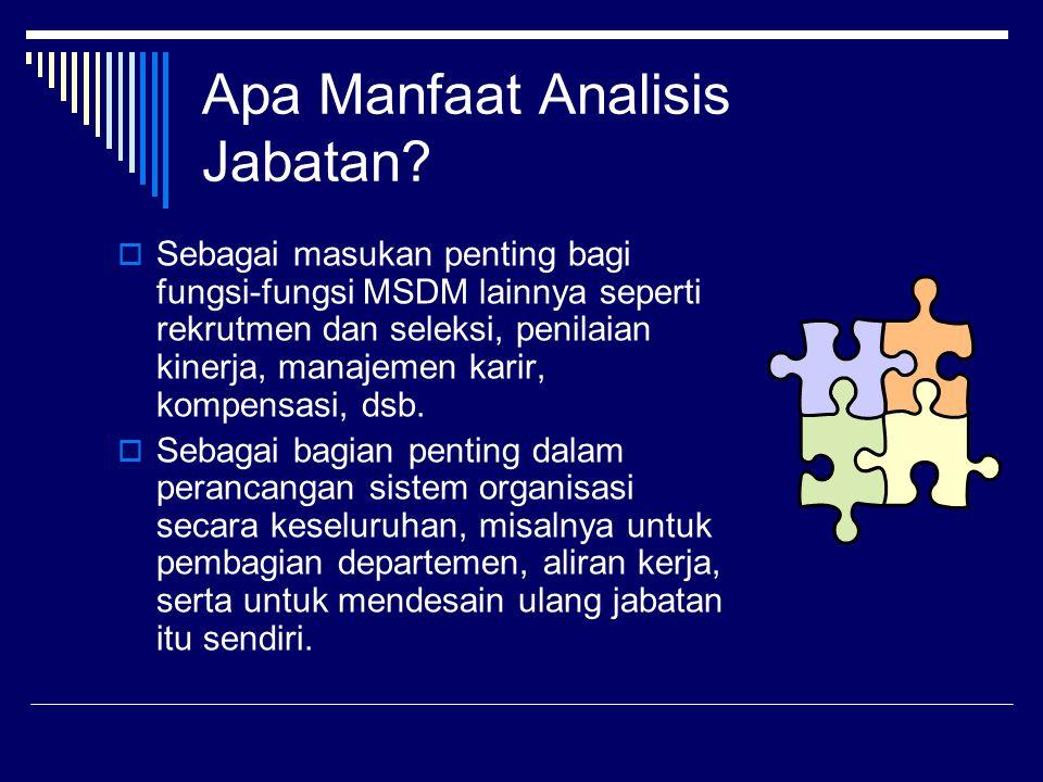 Apa Manfaat Analisis Jabatan