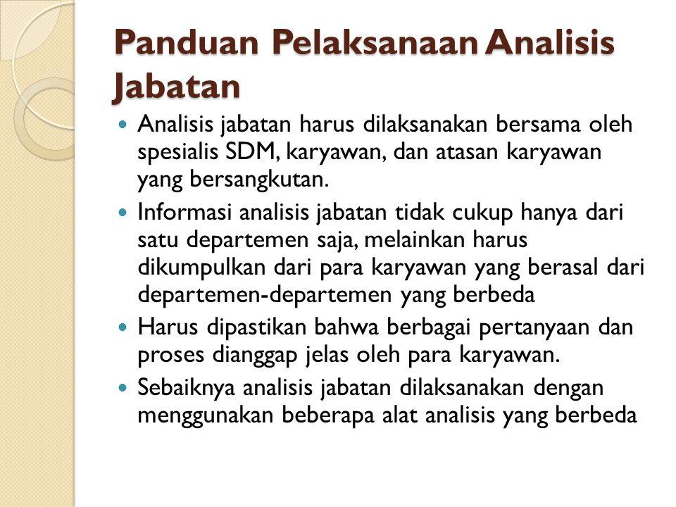 Panduan Pelaksanaan Analisis Jabatan