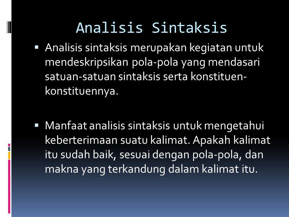 Analisis Sintaksis