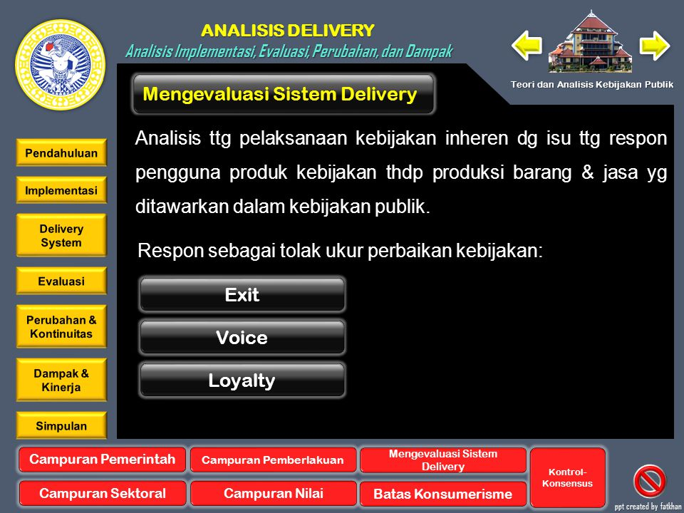 Mengevaluasi Sistem Delivery