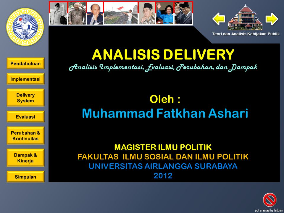 ANALISIS DELIVERY Muhammad Fatkhan Ashari Oleh :