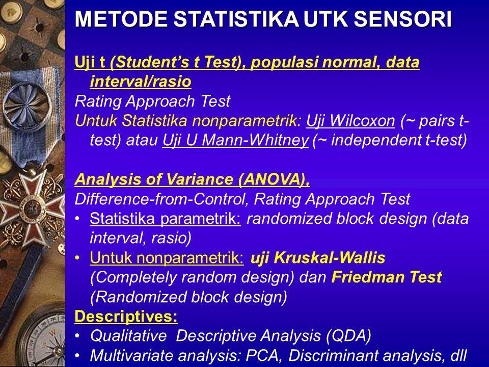 METODE STATISTIKA UTK SENSORI