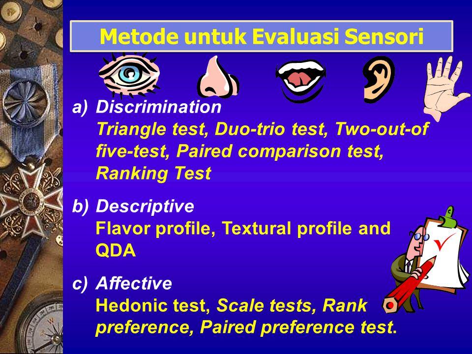 Metode untuk Evaluasi Sensori
