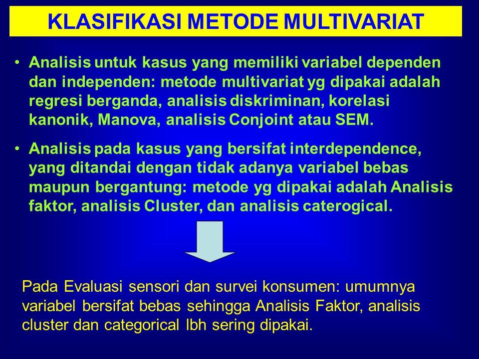 KLASIFIKASI METODE MULTIVARIAT