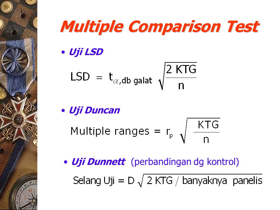 Multiple Comparison Test