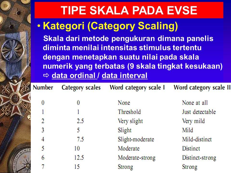 TIPE SKALA PADA EVSE Kategori (Category Scaling)