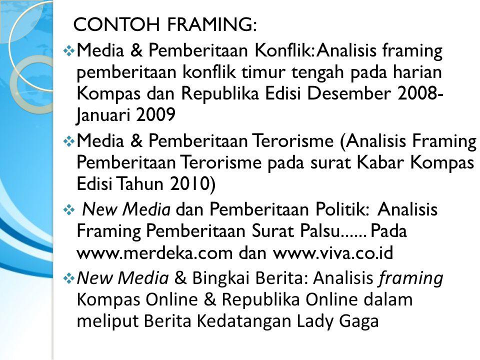 CONTOH FRAMING: