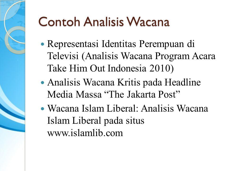 Contoh Analisis Wacana