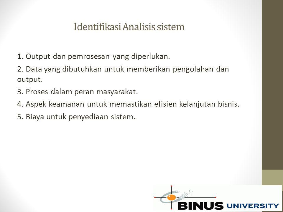 Identifikasi Analisis sistem