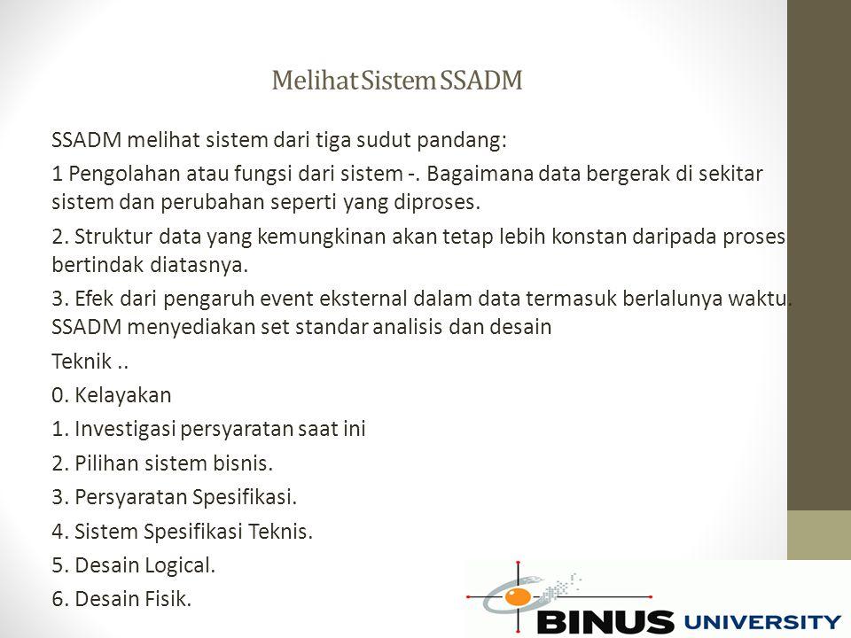 Melihat Sistem SSADM