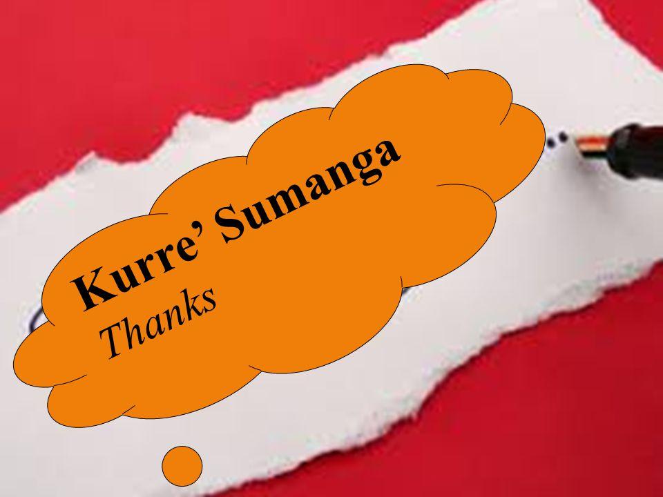Kurre' Sumanga Thanks
