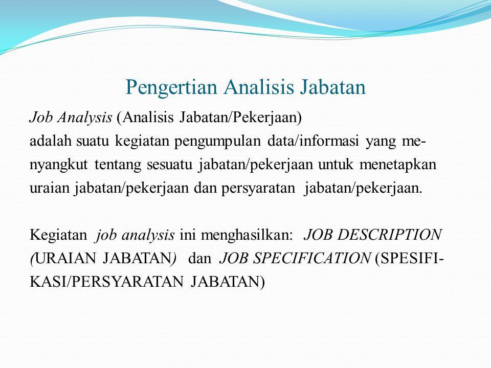 Pengertian Analisis Jabatan