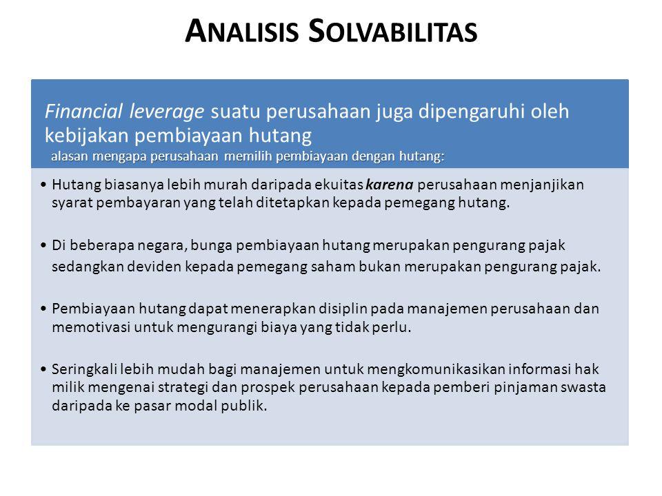 Analisis Solvabilitas