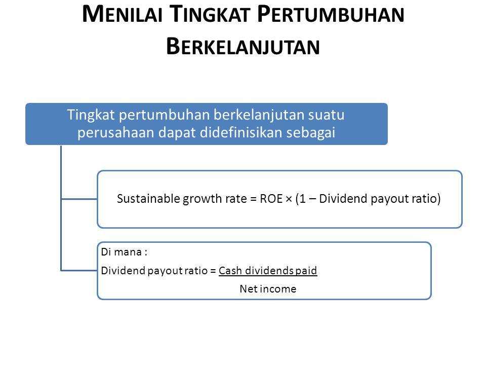 Menilai Tingkat Pertumbuhan Berkelanjutan