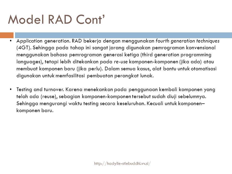Model RAD Cont'