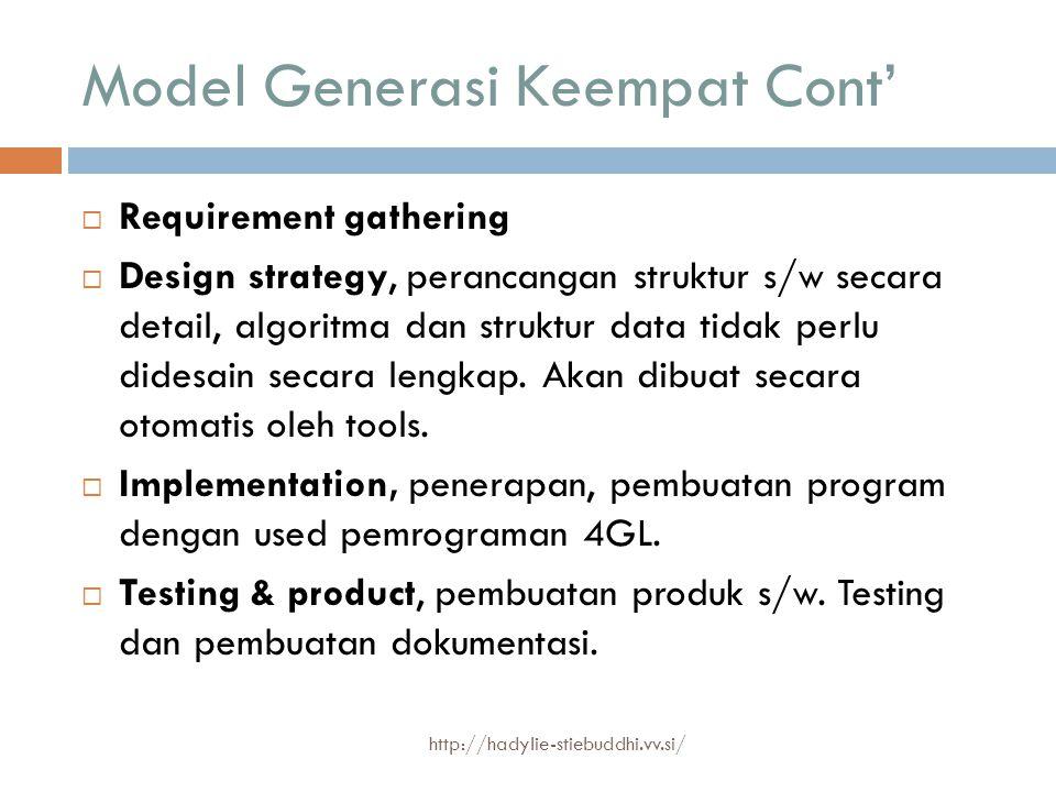 Model Generasi Keempat Cont'