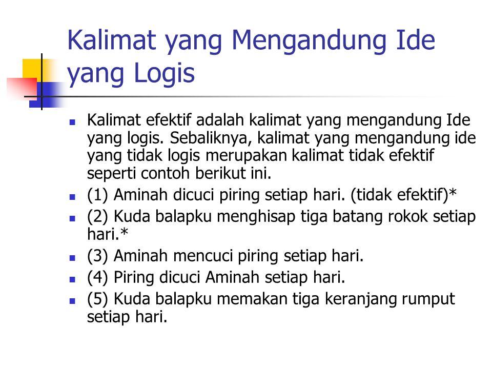 Kalimat yang Mengandung Ide yang Logis