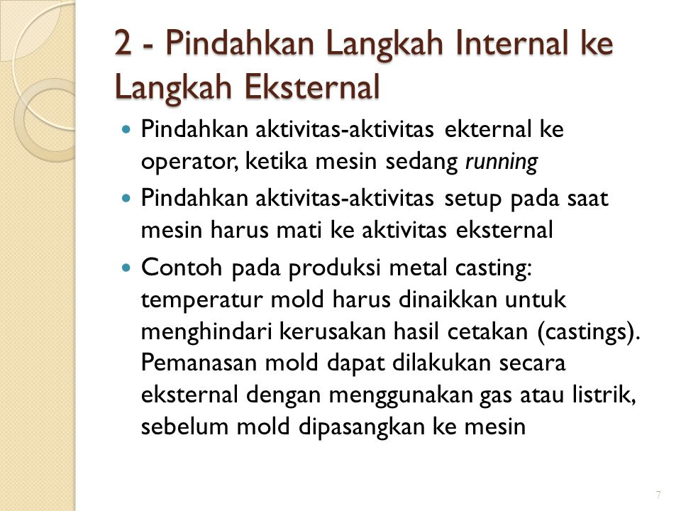 2 - Pindahkan Langkah Internal ke Langkah Eksternal