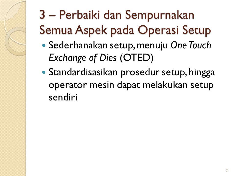 3 – Perbaiki dan Sempurnakan Semua Aspek pada Operasi Setup