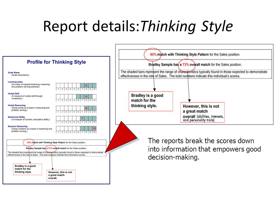Report details:Thinking Style