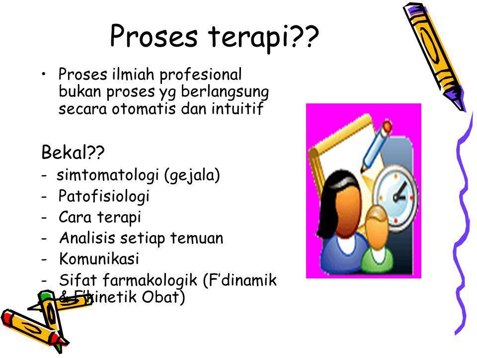 Proses terapi Proses ilmiah profesional bukan proses yg berlangsung secara otomatis dan intuitif.
