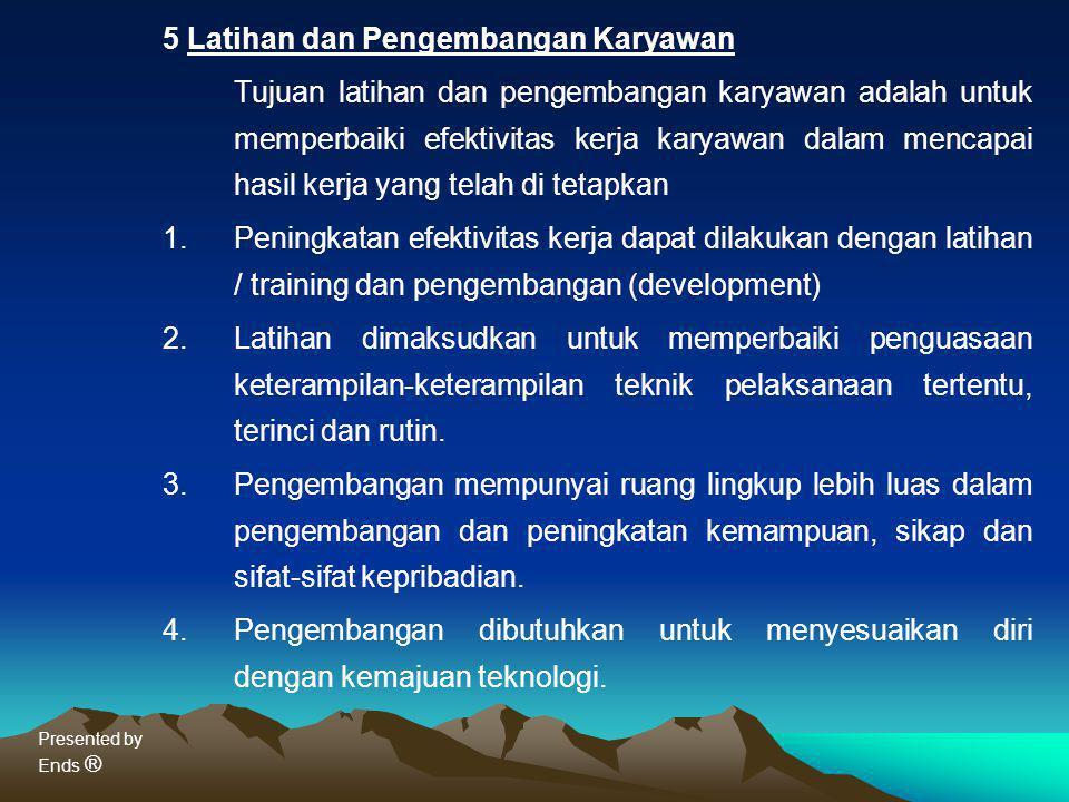5 Latihan dan Pengembangan Karyawan