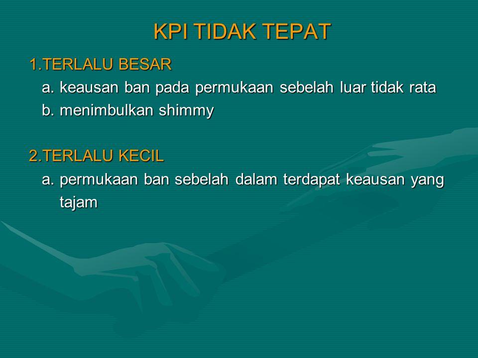 KPI TIDAK TEPAT 1.TERLALU BESAR