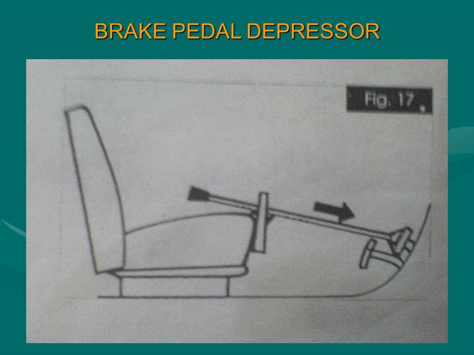BRAKE PEDAL DEPRESSOR