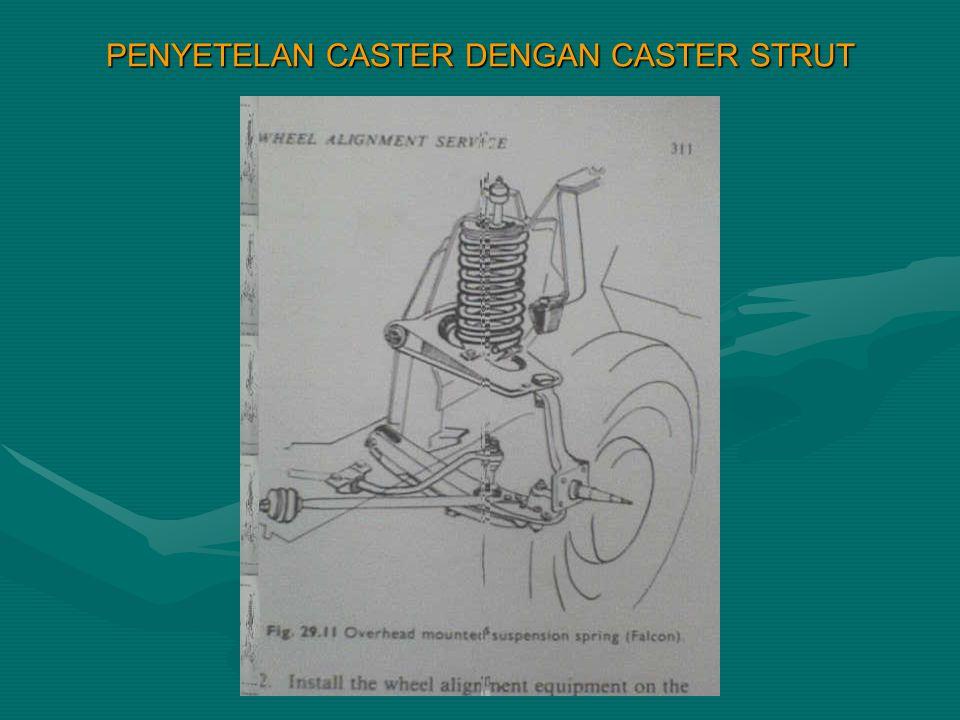 PENYETELAN CASTER DENGAN CASTER STRUT