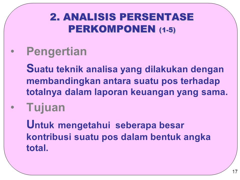 2. ANALISIS PERSENTASE PERKOMPONEN (1-5)