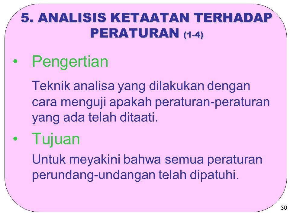 5. ANALISIS KETAATAN TERHADAP PERATURAN (1-4)